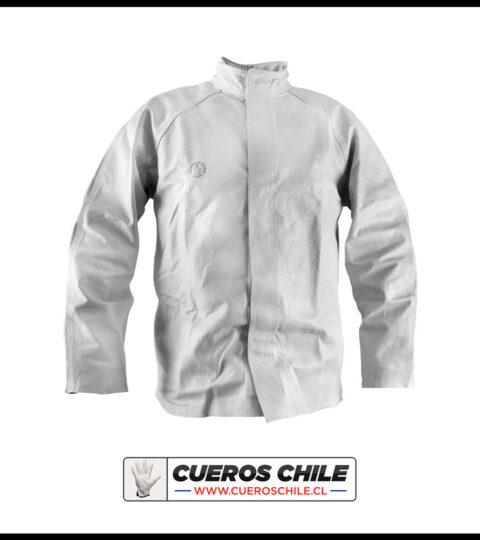 Chaqueta De Cuero Soldador Importada Premium Con Triple Costura