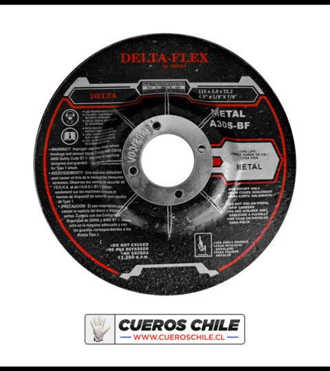 Disco De Corte Delta De 4 1/2 X 3 Mm Metal