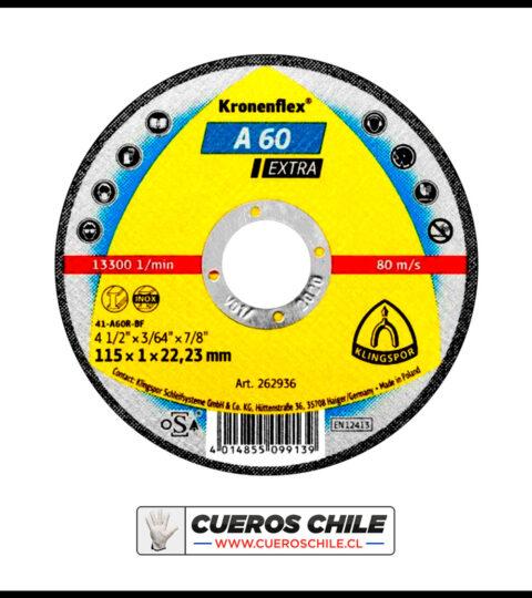 Disco Corte Klingspor 4,1/2″ X 1 Mm Inox A 60 Extra