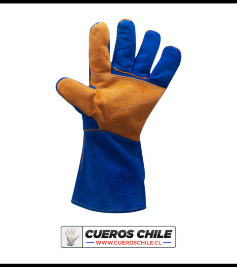 Guante De Soldador Reforzado Azul Kevlar