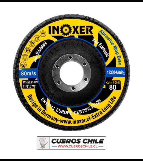 Disco Lamina Traslapado INOXER Zirconio 4,1/2″ Granos 40,60,80